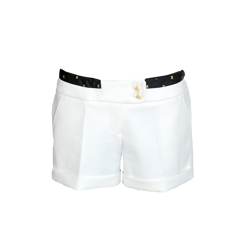 Short pants with gold elements