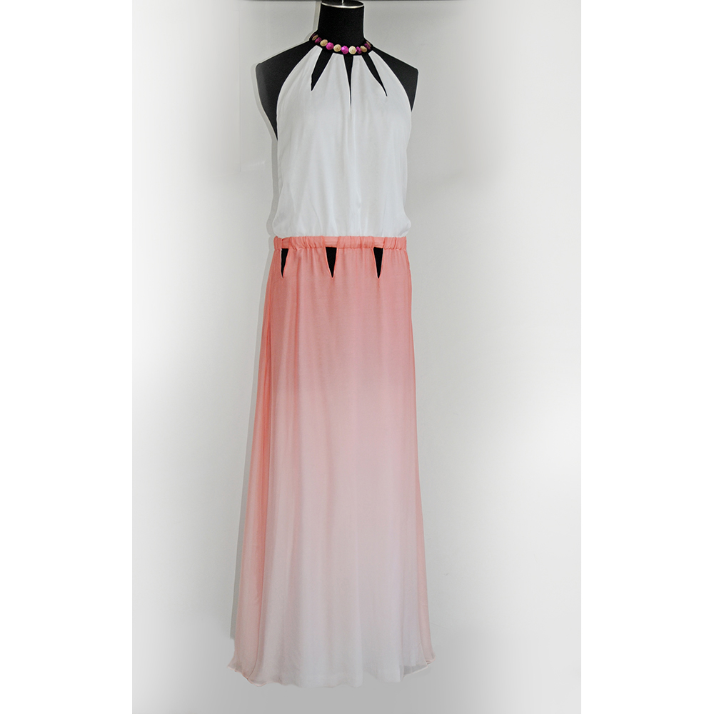 Stunning gown from silk