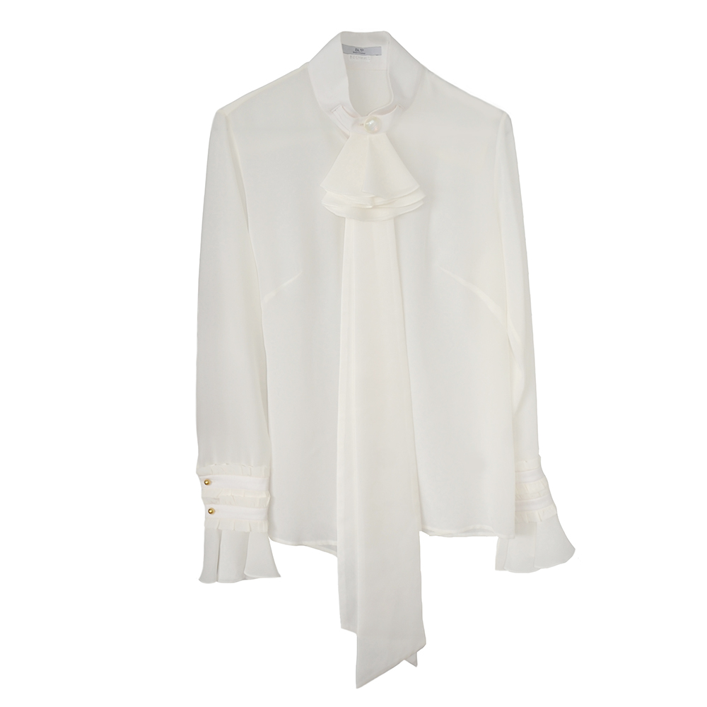 White silk shirt