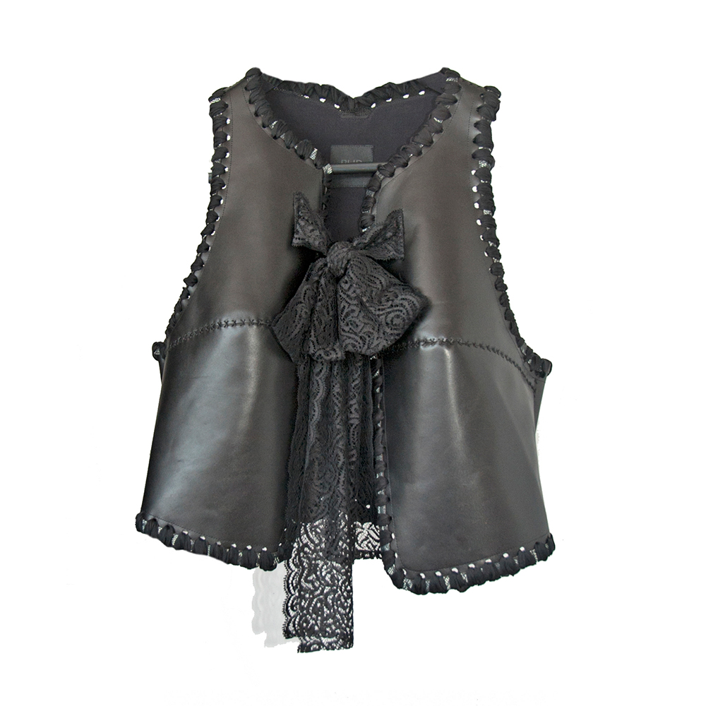 Leather and lace exquisite vest