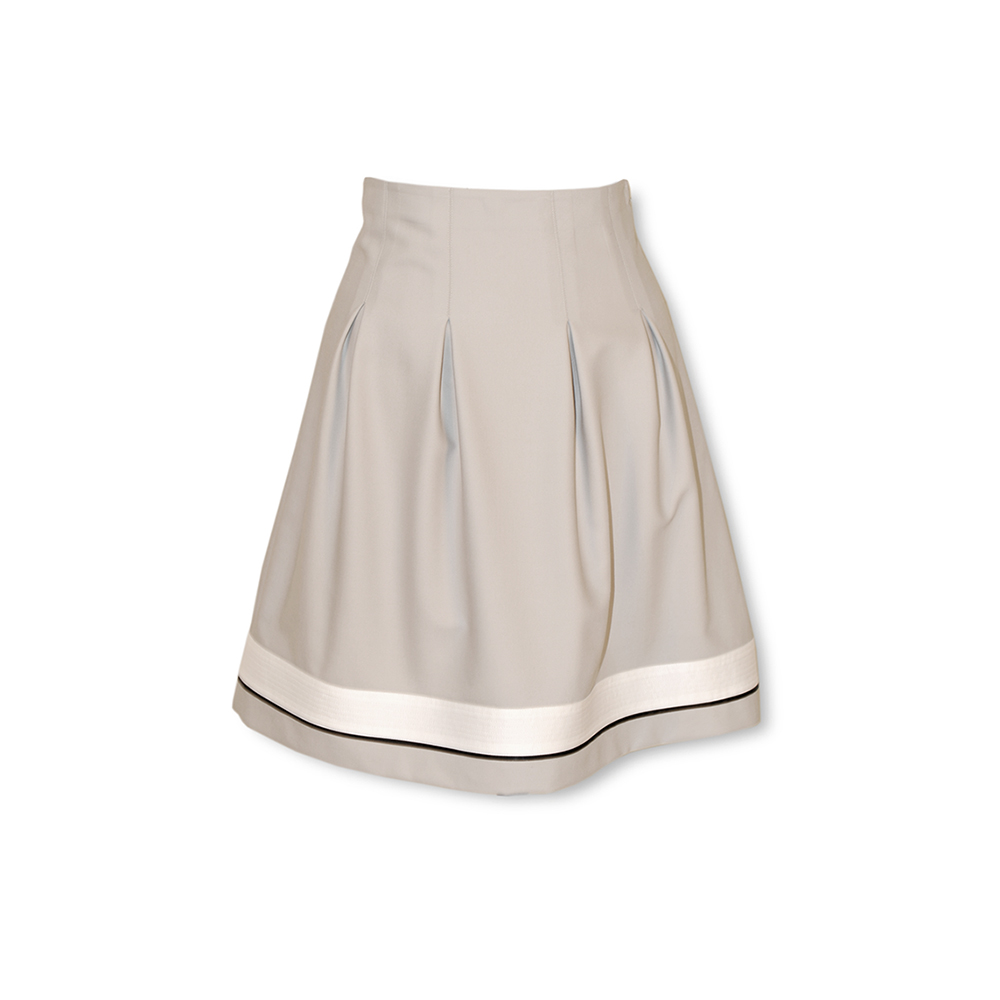 Fine grey ultra smart skirt