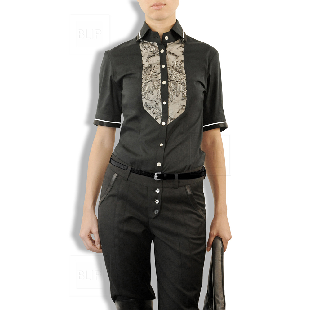 Refined black shirt